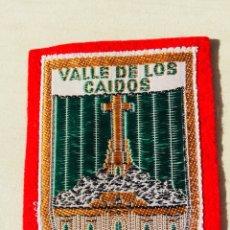 Militaria: ANTIGUO EMBLEMA DE TELA VALLE DE LOS CAÍDOS ,FRANCO,FALANGE,AÑO 1959. Lote 110977892