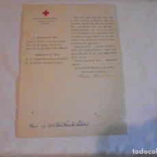 Militaria: CRUZ ROJA ESPAÑOLA OVIEDO CARTA INVITANDO A LA IMPOSICION DE LAS RESPECTIVAS CONDECORACIONES 1930. Lote 111068751