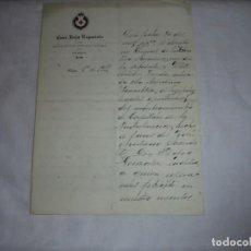 Militaria: CRUZ ROJA ESPAÑOLA OVIEDO CARTA NOMBRANDO CAPELLAN DE AMBULANCIA 1911. Lote 111069679