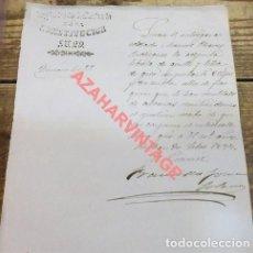 Militaria: BILBAO, 1877, CARTA CON MEMBRETE REGIMIENTO DE INFANTERIA DE LA CONSTITUCION Nº29, MUY RARA. Lote 111083003
