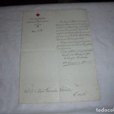 Militaria: CRUZ ROJA ESPAÑOLA OVIEDO CARTA NOMBREMIENTO 4º VICEPRESIDENTE DE LA ENTIDAD 1913. Lote 111105707