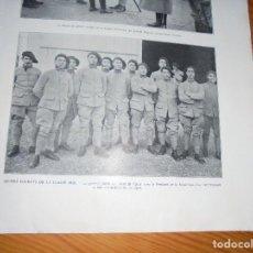 Militaria: ANTIGUA FOTO DE JOVENES SOLDADOS DE 1916. L´ ILLUSTRATION, FEBRERO 1916. Lote 111527439