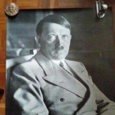 Militaria: GRAN POSTER CON FOTO DE ADOLF HITLER , DE CEDADE AÑOS 80/90 70 X 60 CMS III REICH. Lote 111586571