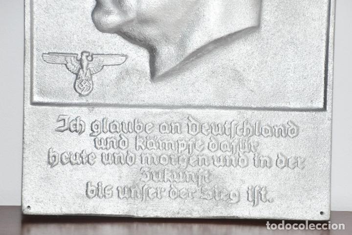 Militaria: Placa alemana .Adolf Hitler .Fundición de hierro - Foto 2 - 189102332