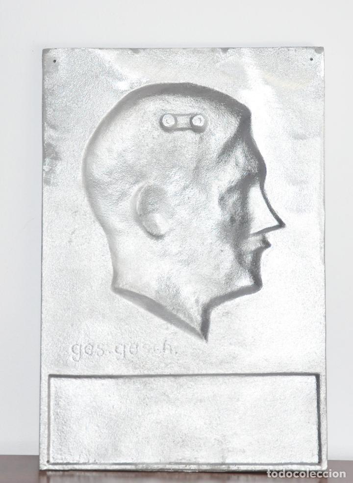 Militaria: Placa alemana .Adolf Hitler .Fundición de hierro - Foto 4 - 189102332