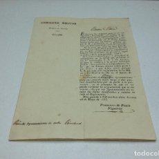 Militaria - GOBIERNO MILITAR - 25/5/1835 - AJUNTAMIENTO DE GERONA - 111838567