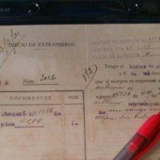 Militaria: DOCUMENTO DEL TERCIO DE EXTRANJEROS 1925. Lote 112244596
