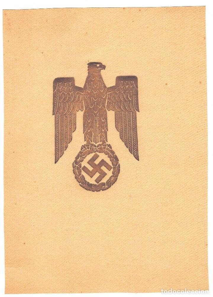 Militaria: FACSÍMIL DE DOCUMENTO CON LA FIRMA DE HEINRICH HIMMLER - Foto 2 - 112666651