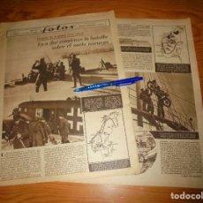 Militaria: RECORTE DE PRENSA : COMIENZA LA BATALLA SOBRE SUELO NORUEGO. REVISTA FOTOS, ABRIL 1940. Lote 113139639