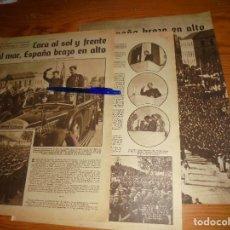 Militaria: RECORTE DE PRENSA : CARA AL SOL, CONCENTRACION DE LA FALANGE EN VALENCIA. FOTOS, ABRIL 1940. Lote 113139835