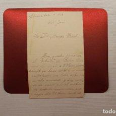 Militaria: CORRESPONDENCIA GUERRA CIVIL, ENERO 1939. Lote 113153867