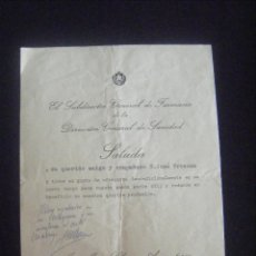 Militaria: JML MILITAR CARTA DE EL SUBDIRECTOR GENERAL DE FARMACIA DE DIRECCION GENERAL DE SANIDAD, MADRID 1964. Lote 113712099