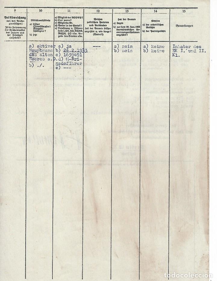 Militaria: FACSÍMIL DE DOCUMENTO FIRMADO POR EL REICHSFUHRER DE LAS SS HEINRICH HIMMLER - Foto 2 - 113717771