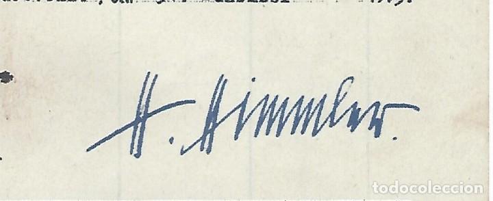 Militaria: FACSÍMIL DE DOCUMENTO FIRMADO POR EL REICHSFUHRER DE LAS SS HEINRICH HIMMLER - Foto 3 - 113717771