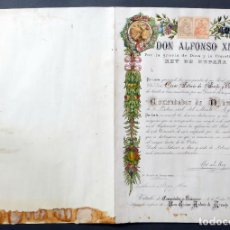 Militaria: DIPLOMA CONCESIÓN COMENDADOR DE NÚMERO ORDEN CIVIL DEL MÉRITO AGRÍCOLA ALFONSO XIII 17 FEBRERO 1925 . Lote 113825723