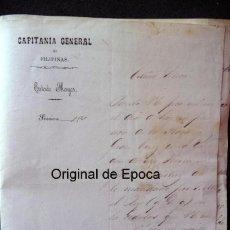 Militaria: (JX-180307)NOTIFICACIÓN CONCESIÓN PLACA GRAN CRUZ S.HERMENEGILDO,T.CORONEL D.SABINO GAMIN,FILIPINAS. Lote 113903495