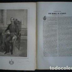 Militaria: EL BRIGADIER DE INFANTERIA DON MANUEL DE STARICO (NACIDO EN CARTAGENA EN 1795). . Lote 113936951
