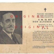 Militaria: RECORDATORIO DEL FALLECIMIENTO DEL REY ALFONSO XIII. Lote 114398451