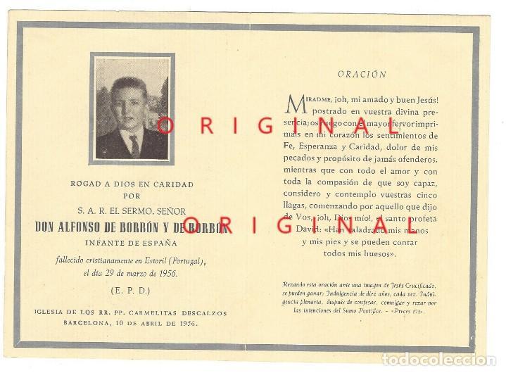 RECORDATORIO DEL HERMANO DEL EX-REY DE ESPAÑA JUAN CARLOS (Militar - Propaganda y Documentos)