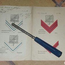 Militaria: LÁMINA O PÓSTER DE DISTINTIVOS DE INGENIEROS DE FERROCARRILES AÑO 1919. Lote 114507911