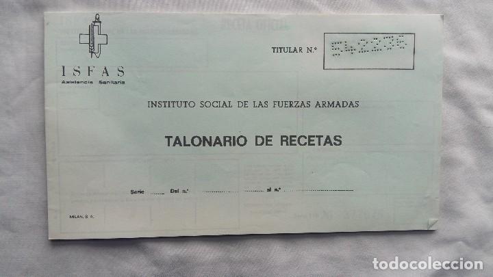 (SEVILLA) TALONARIO RECETAS I.S.F.A.S 1991 (Militar - Propaganda y Documentos)