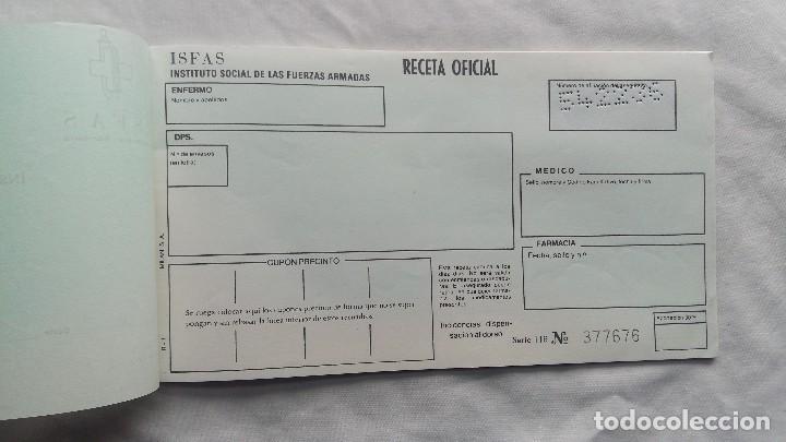 Militaria: (Sevilla) Talonario RECETAS I.S.F.A.S 1991 - Foto 2 - 114609191