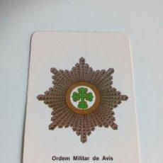 Militaria: CALENDARIO ORDEM MILITAR DE AVIS. Lote 114648866