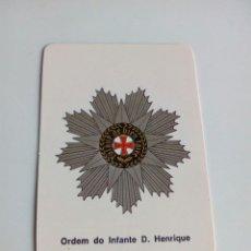 Militaria: CALENDARIO ORDEM DO INFANTE D. HENRIQUE. Lote 114649059