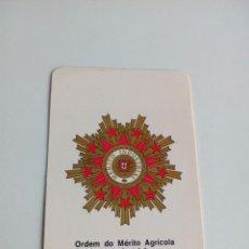 Militaria: CALENDARIO ORDEM DO MÉRITO AGRÍCOLA E INDUSTRIAL. Lote 114649218