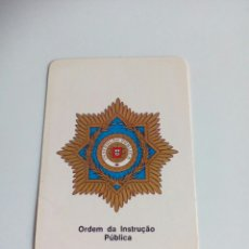 Militaria: CALENDARIO ORDEM DA INSTRÇÃO PÚBLICA. Lote 114649739