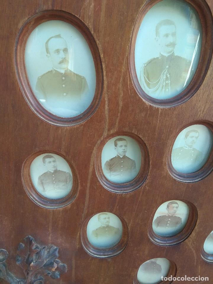 Militaria: Metopa - Orla Madera - Militar Infantería - Convocatoria de Mayo 1898 - Alumnos Ingresados - - Foto 3 - 114920595
