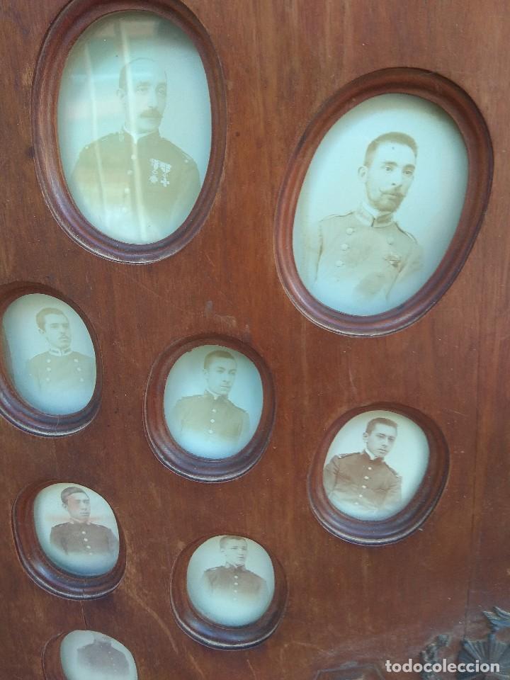 Militaria: Metopa - Orla Madera - Militar Infantería - Convocatoria de Mayo 1898 - Alumnos Ingresados - - Foto 4 - 114920595