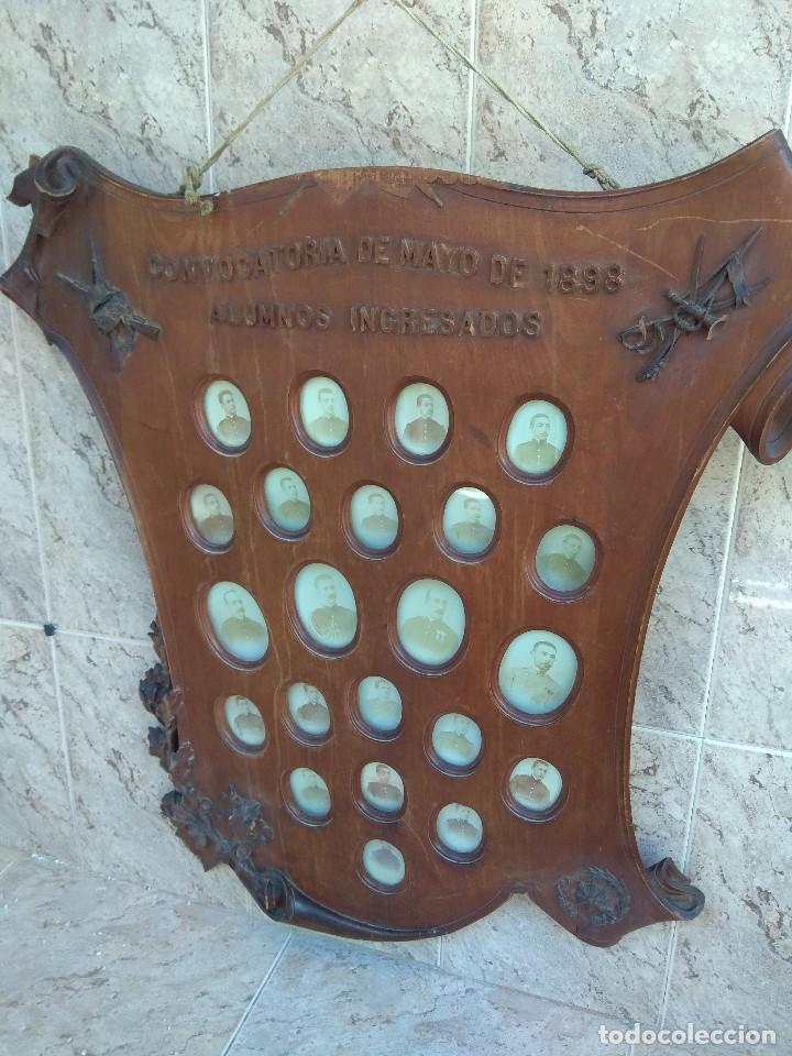 Militaria: Metopa - Orla Madera - Militar Infantería - Convocatoria de Mayo 1898 - Alumnos Ingresados - - Foto 22 - 114920595