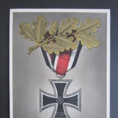 Militaria: PROPAGANDA NAZI. TARJETA POSTAL CRUZ DE HIERRO ALEMANA. 2ª GUERRA MUNDIAL. . Lote 115165063