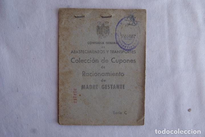 MUY RARA MADRE GESTANTE CARTILLA RACIONAMIENTO BUEN ESTADO (Militar - Propaganda y Documentos)