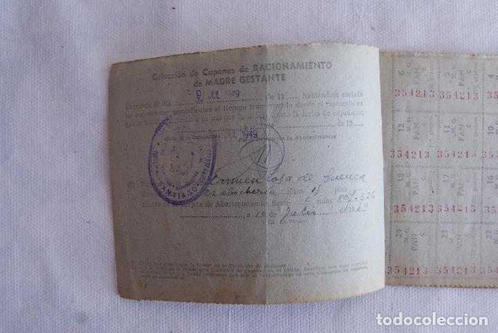 Militaria: MUY RARA MADRE GESTANTE CARTILLA RACIONAMIENTO BUEN ESTADO - Foto 3 - 115202803