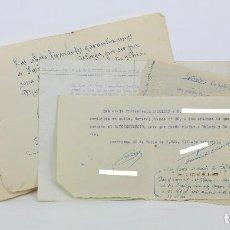 Militaria: CONJUNTO DE 6 SALVOCONDUCTOS DE LA GUERRA CIVIL - ARCHIDONA, VILLANUEVA DE TAPIA / MÁLAGA - AÑO 1939. Lote 115204199