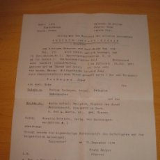 Militaria: DOCUMENTO ALEMAN, EPOCA III REICH, AÑO 1943. Lote 115323511