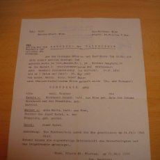 Militaria: DOCUMENTO ALEMAN, EPOCA III REICH. AÑO 1943. Lote 115323903