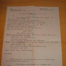 Militaria: DOCUMENTO ALEMAN, EPOCA III REICH. AÑO 1943. Lote 115324051