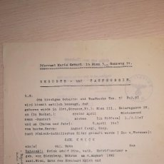 Militaria: DOCUMENTO ALEMAN, EPOCA III REICH. AÑO 1943. Lote 115327699