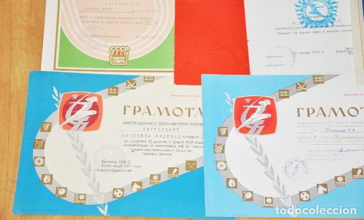 Militaria: Lote 10 diplomas sovieticas para una persona .Dinamo .URSS - Foto 2 - 115650487