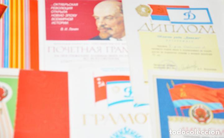 Militaria: Lote 10 diplomas sovieticas para una persona .Dinamo .URSS - Foto 4 - 115650487