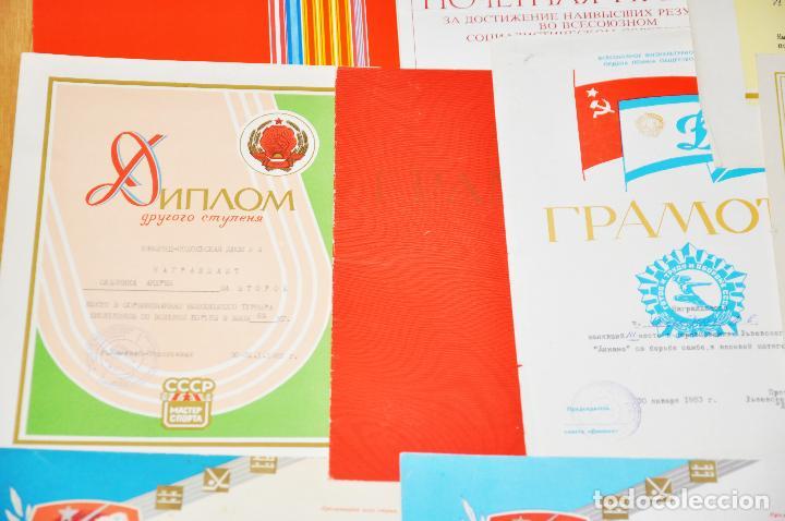 Militaria: Lote 10 diplomas sovieticas para una persona .Dinamo .URSS - Foto 6 - 115650487