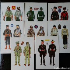 Militaria: POSTALES FICHERO BASICO DE UNIFORMES DE LA SEGUNDA GUERRA MUNDIAL. Lote 115734891
