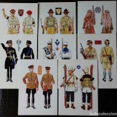 Militaria: POSTALES FICHERO BASICO DE UNIFORMES DE LA SEGUNDA GUERRA MUNDIAL. Lote 115735183