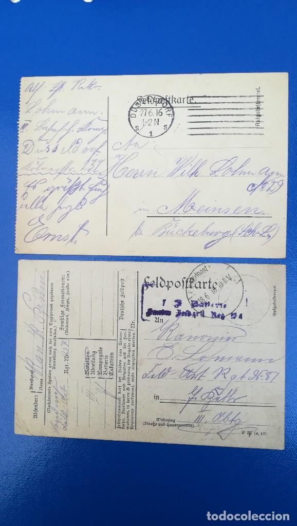 LOTE CARTAS POSTALE ALEMANA, EPOCA 1ª GUERRA MUNDIAL (Militar - Propaganda y Documentos)