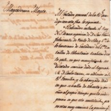 Militaria: 1826 VALENCIA OFICIO MAYORDOMIA MAYOR REY SOCORRO A CABO GASTADORES 1 BATALLON VOLUNTARIOS REALISTAS. Lote 116212563
