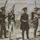 Militaria: GRABADO ORIGINAL S.XIX TRAJES MILITARES PRUSIANOS 22X14,7 COSTUMES MILITAIRES PRUSSIENS. Lote 116261427