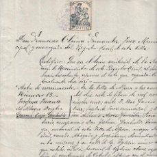 Militaria: 1926 ALPERA (ALBACETE) GOBERNADOR MILITAR ZARAGOZA TTE GENERAL JUAN GARCIA TREJO CERTIFICADO HIJA. Lote 116379987